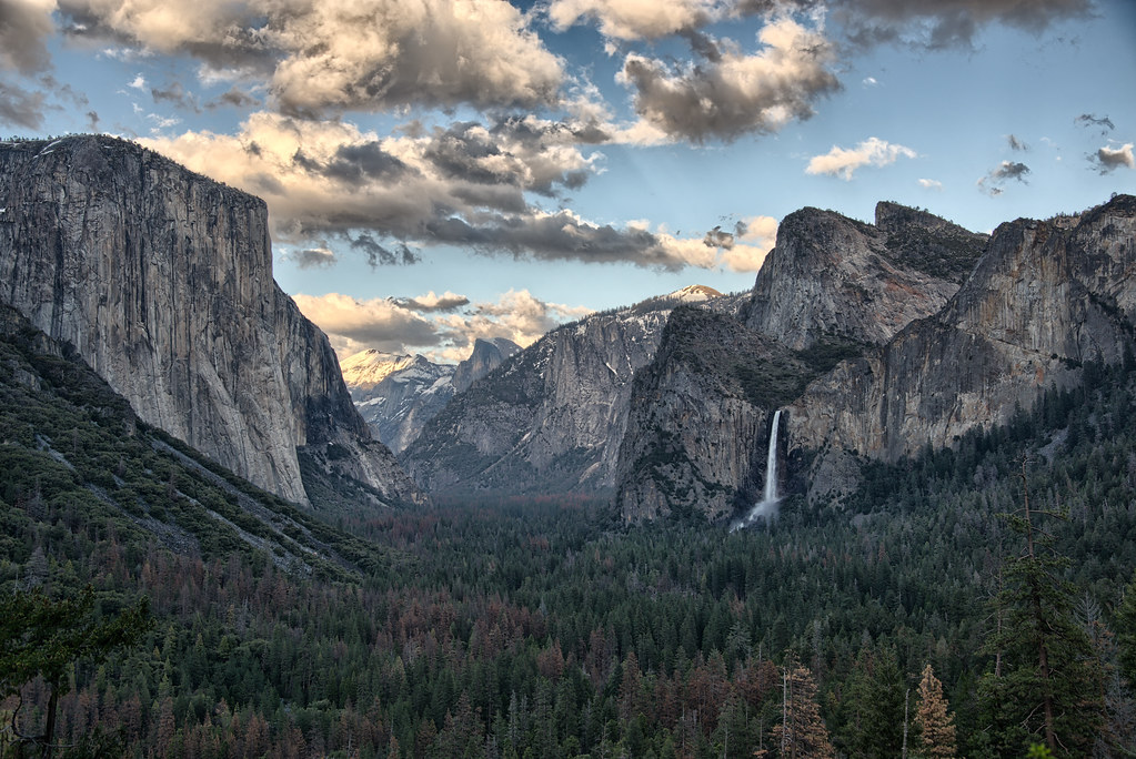 El Capitan Half Dome And Bridalveil Fall Yosemite Nati