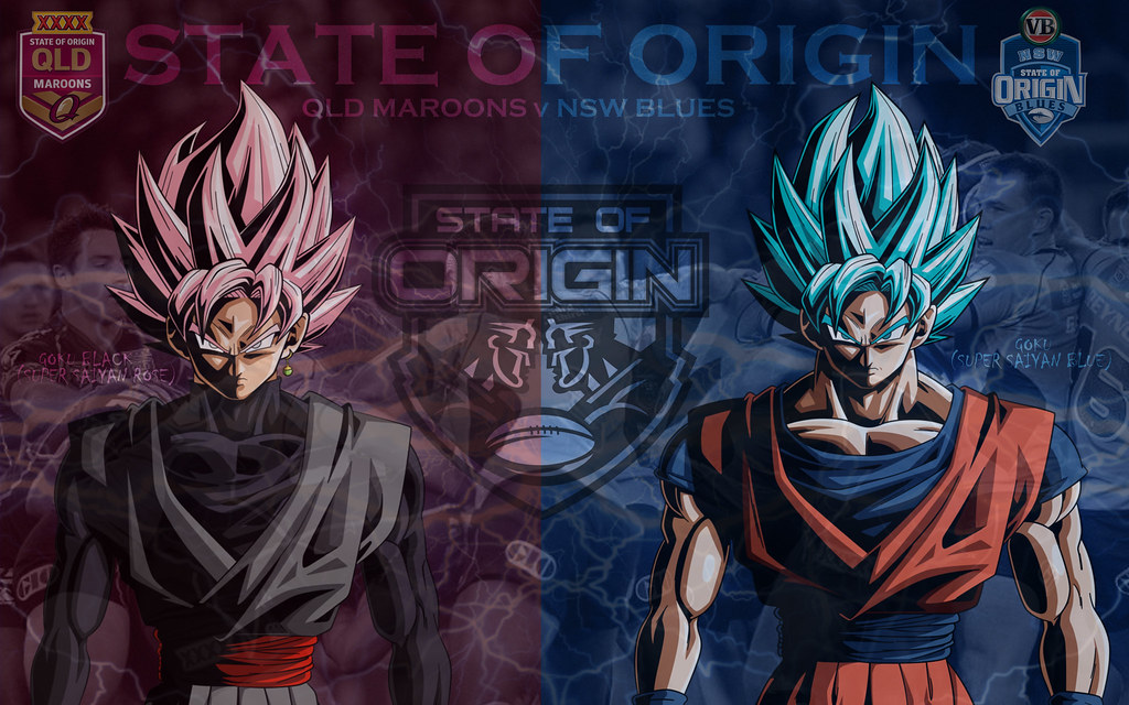State Of Origin Goku Black Vs Goku Wallpaper By Sunnyboi