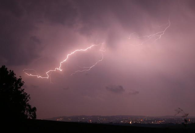 Lightning over Exeter