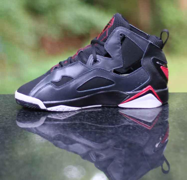 best loved 0cdd8 c6711 ... Nike Air Jordan True Flight Kids Black Gym Red Wolf Grey 343795-002  Boy s Size