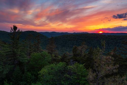 baldmountain rondaxe firetower oldforge newyork adirondacks sunset sun sky trees landscape mountain canon 6d