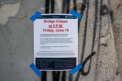 MnDOT Bridge Closure Sign - 24th Street Pedestrian Bridge over 35W