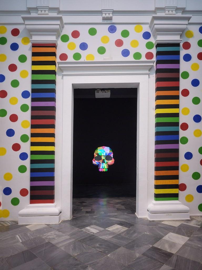 """España Okuda San Miguel """"The multicolored Equilibrium between Animals and Humans"""" Centre del Carme, Valencia"""