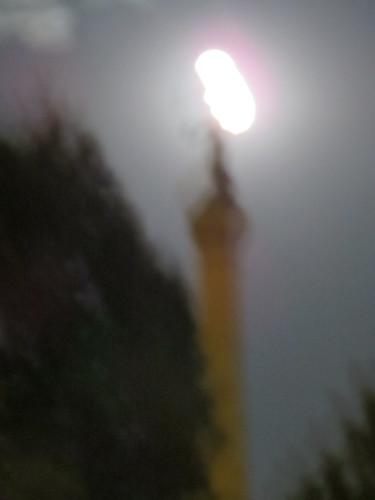 surreal desmoines iowa ia crossamerica2017 night capitoleast park sculpture moon outdoor landscape blur summermidnightmeditation