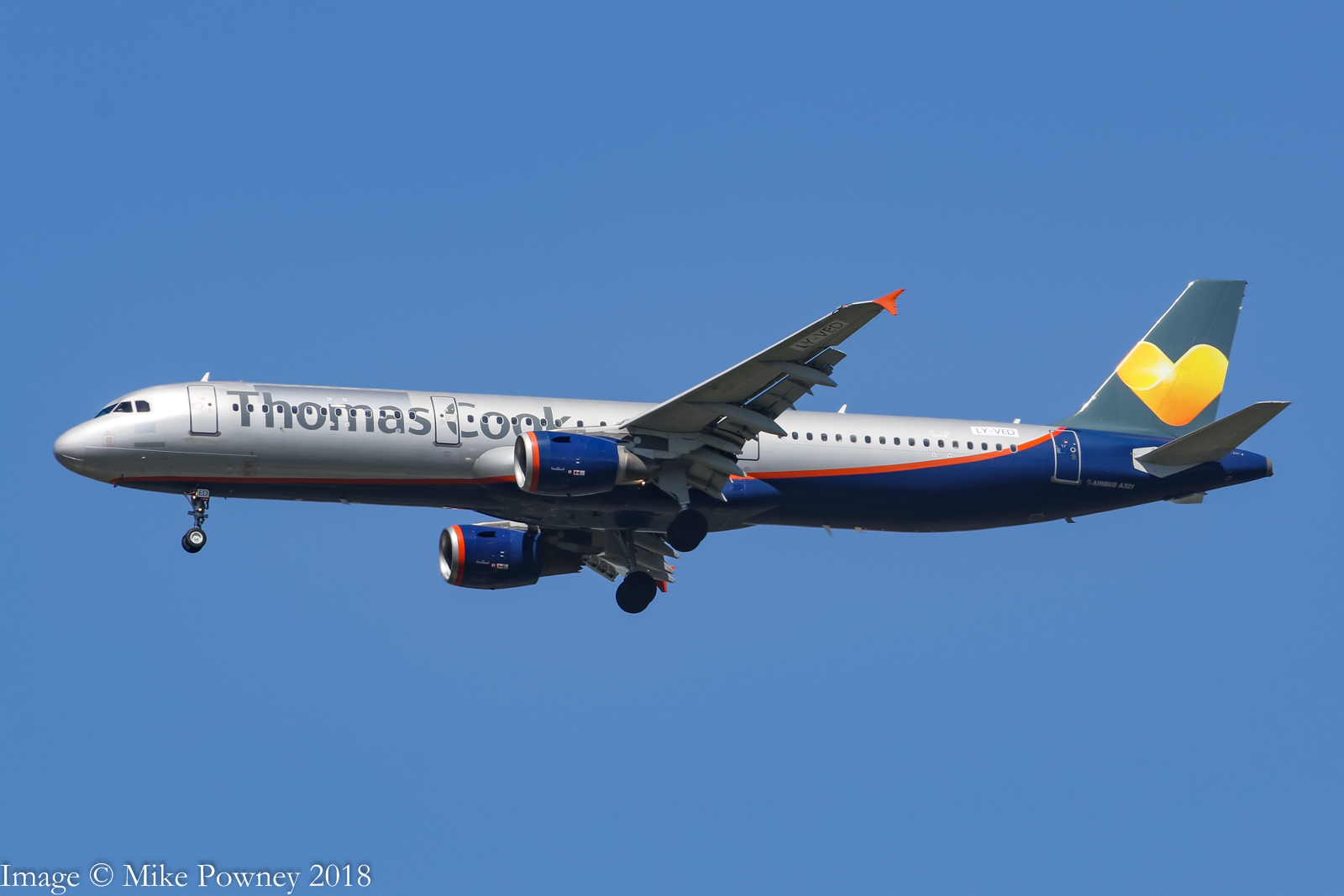 LY-VED - 2007 build Airbus A321-211, hybrid Thomas Cook/Aeroflot colours