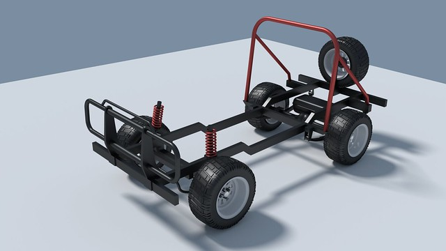 Jago Jeep chassis test