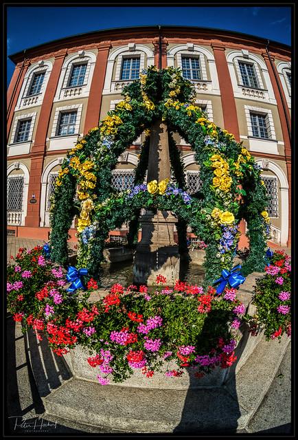 flower fountain
