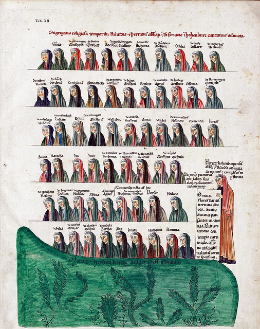 The listing of the nuns in the time of the abbesses Relinde and Herrad