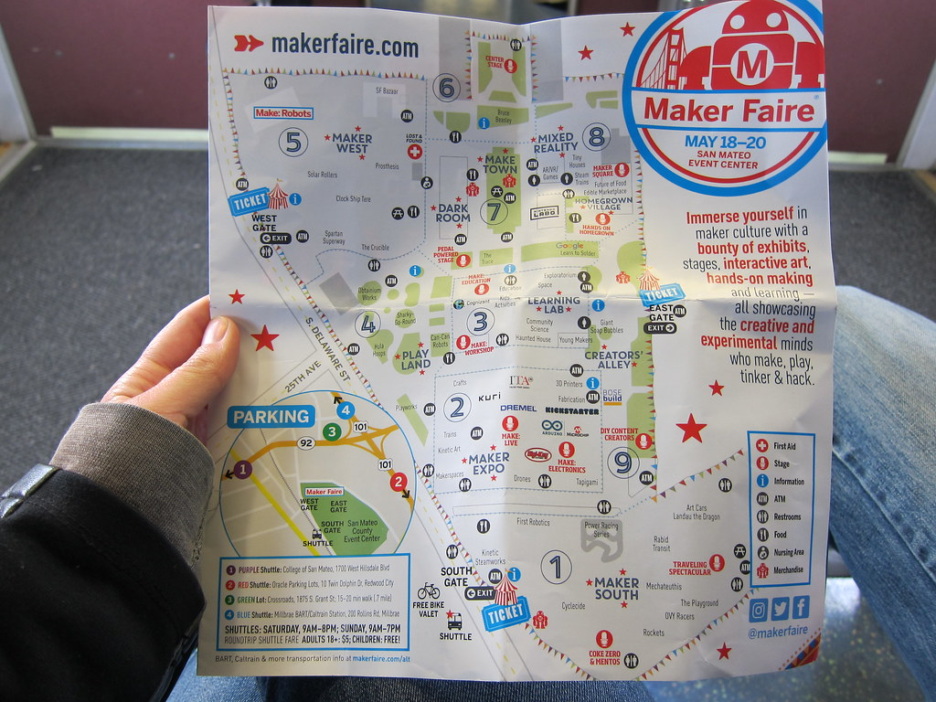 Maker Faire map | Flickr - Photo Sharing! on roblox map, wedding map, new york map, halloween map, maker fair map,
