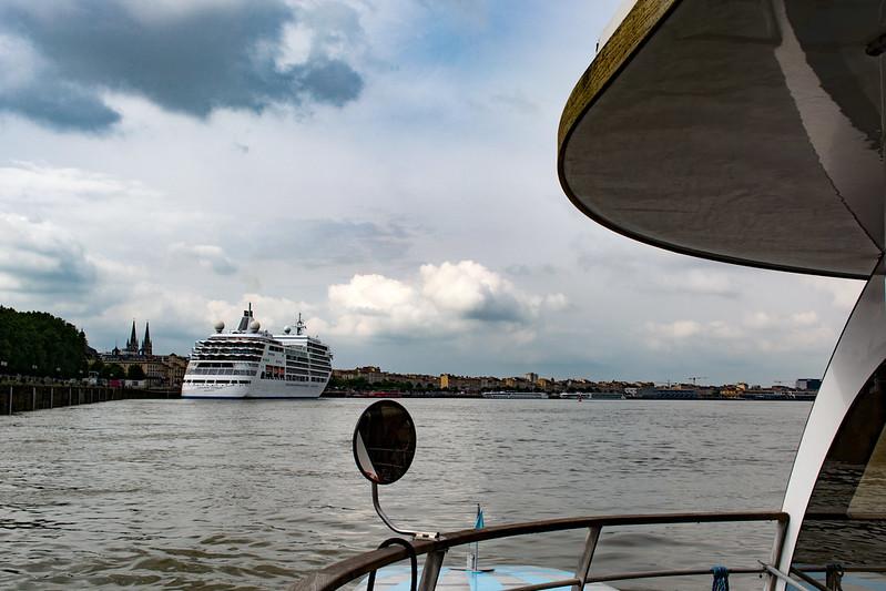 Départ du Silver Spirit de Bordeaux, 28 mai 2018