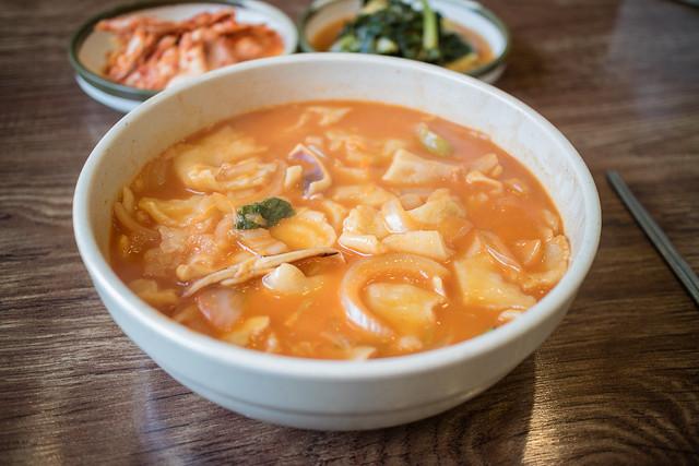 Korena Spicy Dough Soup.