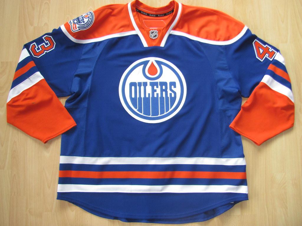 new style 73b17 be5d3 Edmonton Oilers 2008 - 2009 alternate Game Worn Jersey   Flickr