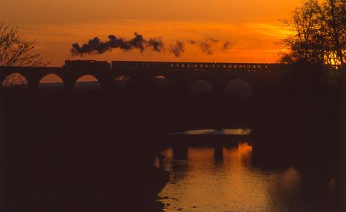 45407 whalleyarches steam railways uksteam ukrailways sunset