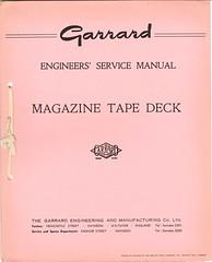 Garrard TechEng Service Manual Magazine Tape Deck