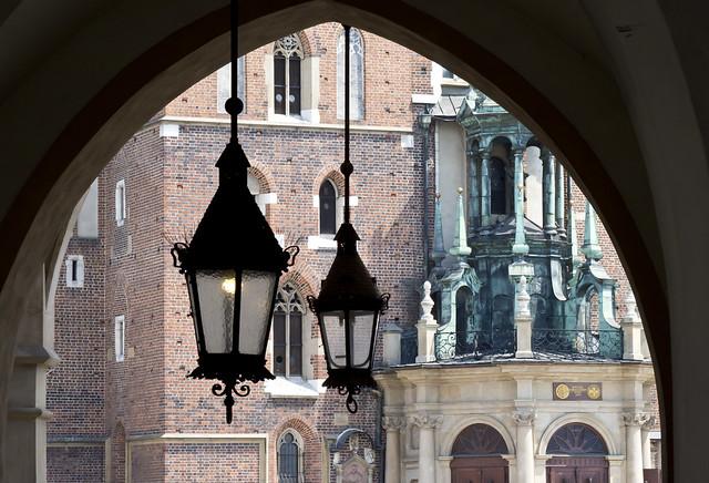 St. Mary's Basilica from Kraków Cloth Hall