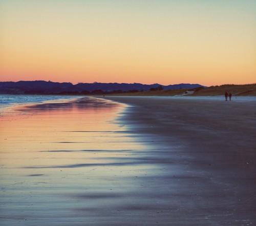 uretitibeach newzealand sunset
