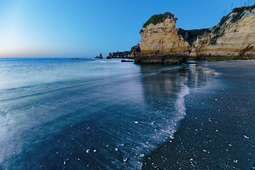 sunset portugal lagos europe europa dawn sea beach long exposure wide angle dslr full frame colors sky