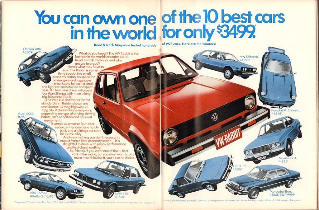 1976 Volkswagen Rabbit Advertisement Playboy March 1976 | Flickr