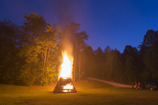 Bonfire, Speleofest, Hart County, Kentucky