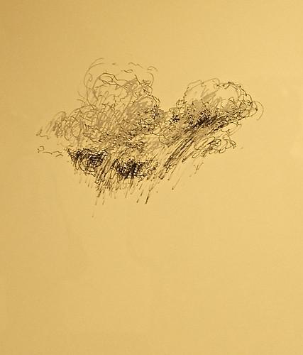 corning newyork rockwellmuseum earthandsky theceramicartofwaynehigby waynehigby sketch ink paper cloud10 clouds rain