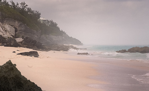 bermuda beach mist pink sand morning southlands landscape colour art photo jonathan charles