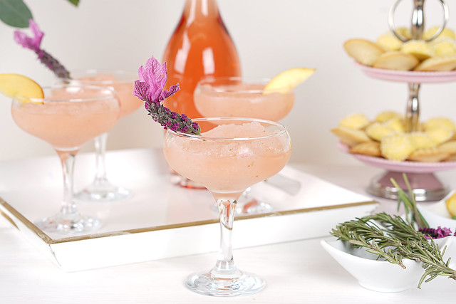 Frosé with Lavender Garnish