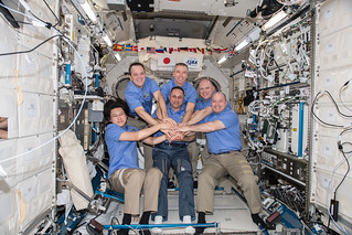 The six member Expedition 55 crew | by NASA Johnson