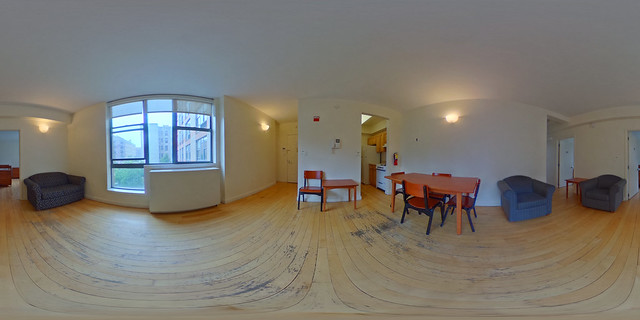 Cathedral Gardens suite common room (click for 360 view)