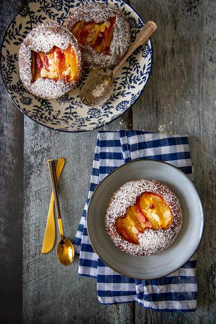 Tartelletta amandine con pesche
