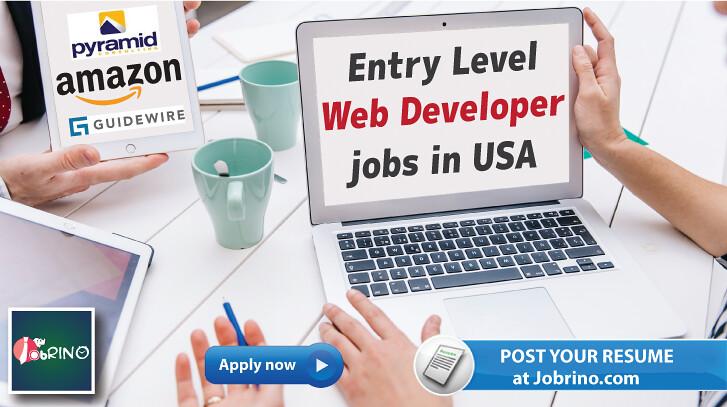 entry level web developer jobs in usa  2