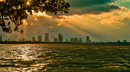sunset lateafternoon bay waterways walkingaround walking urbanexploration miamifl miamibeach seashore seascape sea outdoors waves sun