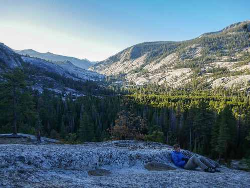 Miles waiting for the sun to hit Camp 2 in the morning | by snackronym