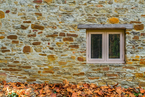 window autumn leaves stone view bricks wood texture mill australia southaustralia yellow color colours colour adelaidehills