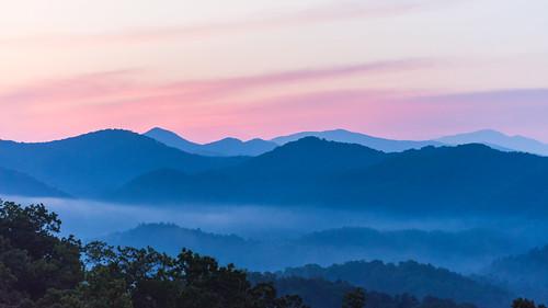 appalachia greatsmokymountainsnp greatsmokymountainsnationalpark nationalparkservice smokymountains dawn daybreak footpath sunrise
