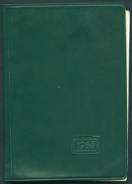 Archiv P014 Jahres-Notizkalender, Taschenkalender, DDR, 1968