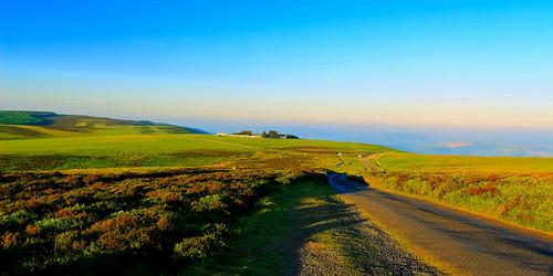 landscape colour cuntryside sky sunrise mist cloudless hills