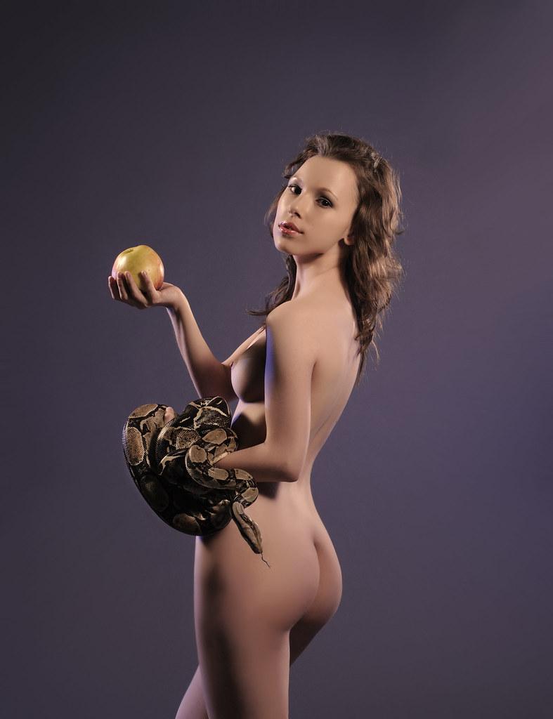 Eve Nude nude - eve, a snake and apple | strobist info: direct light