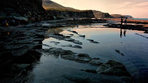 coast shore mar sea australia nsw sydney cliff