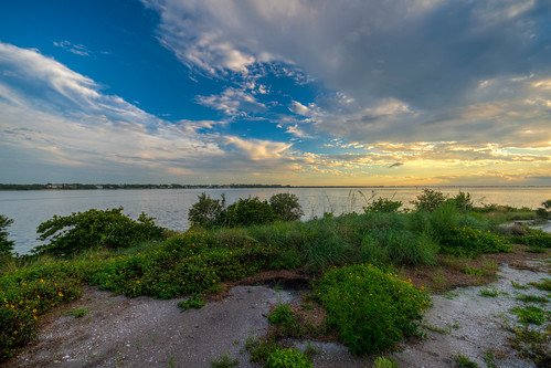 florida fl fla sunset sun landscape hdr manateeriver river water cloud clouds