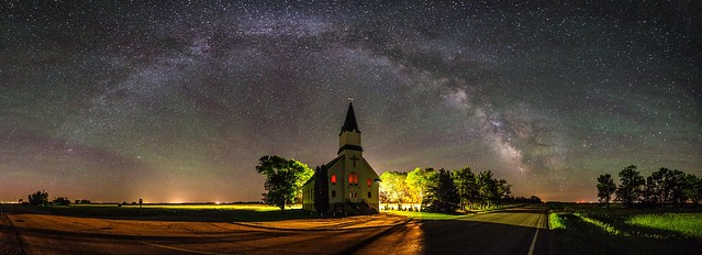 Church - Milky Way Panorama