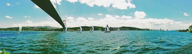 sailing race in bosphorus.