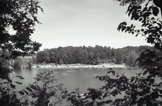 Lake view on film