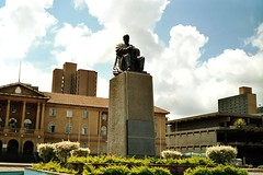 Statue of the late Mzee Jomo Kenyatta, first president of the Republic of Kenya