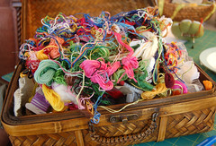 embroidery floss. not so organized.   by SouleMama