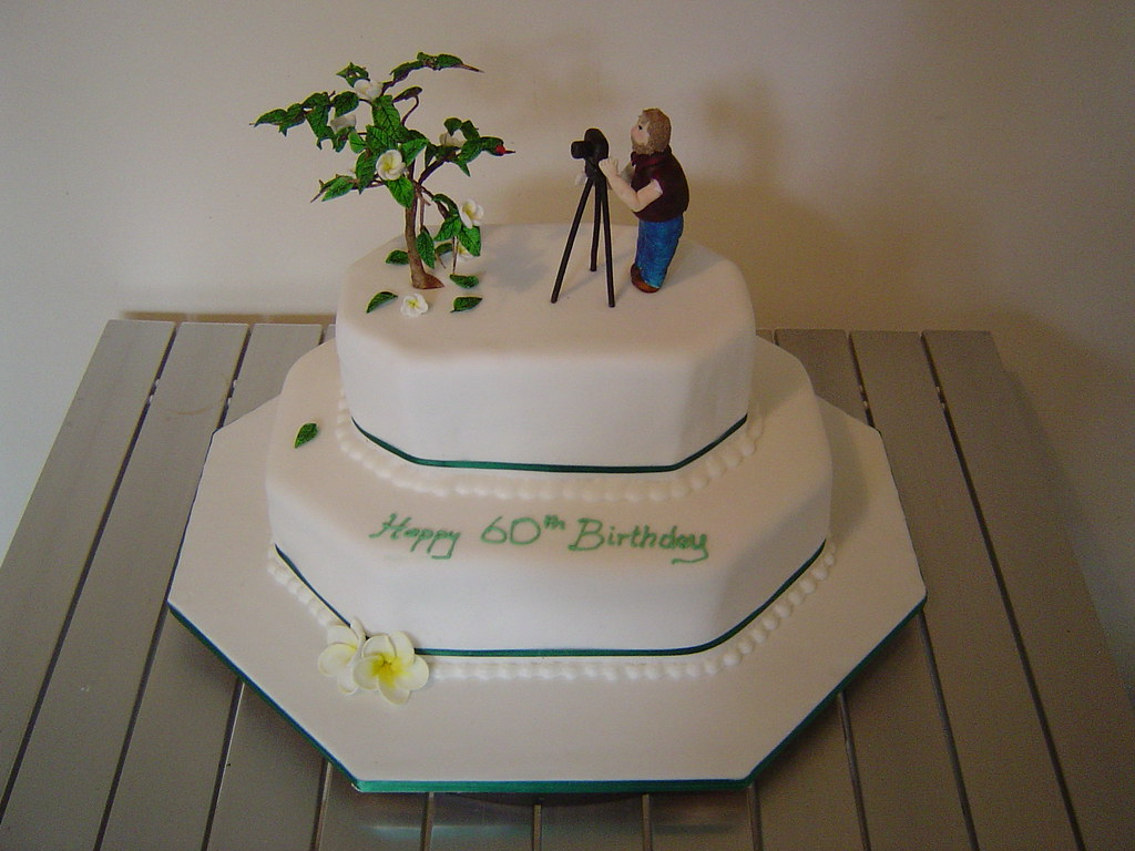 Sensational Dads 60Th Birthday Cake My Dad Is Really Into Photography Flickr Birthday Cards Printable Opercafe Filternl