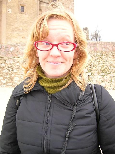 Anna en el castillo de Aracena (Huelva)