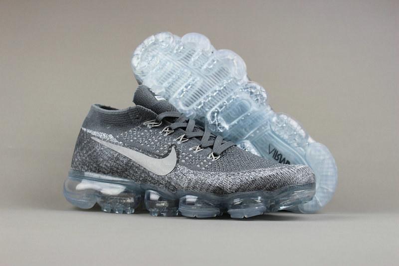 hot sale online 66804 8dd86 Cheap Nike Sporting Womens Air VaporMax Flyknit Grey White ...