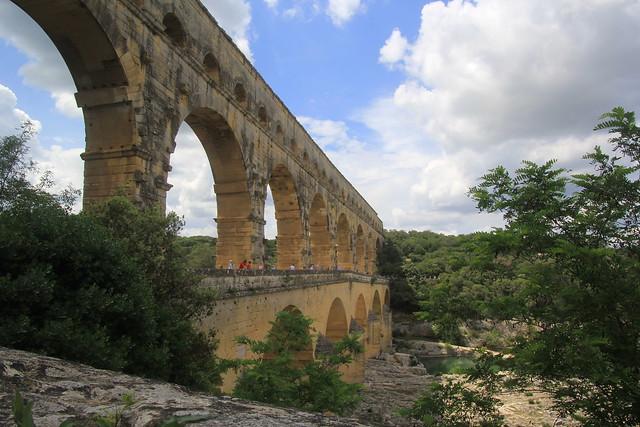 Pont du Gard, Roman aqueduct, southern France.