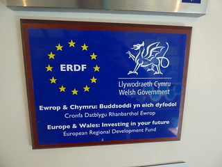 Great Orme Visitor Centre - ERDF and Welsh Government plaque