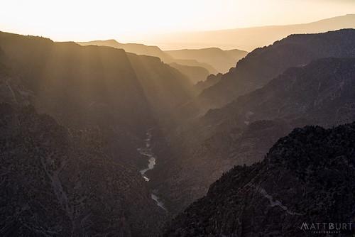 blackcanyon southrim sunsetpoint haze rays sunset